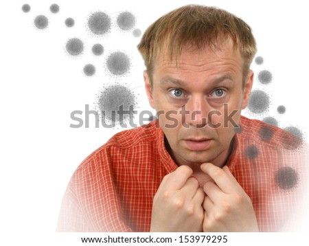 virus attack - stock photo