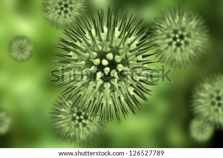 Virus cells - stock photo