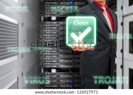 Virus Cleaned by programmer - stock photo