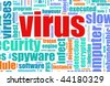 Virus Computer Security Focus as a Background - stock photo