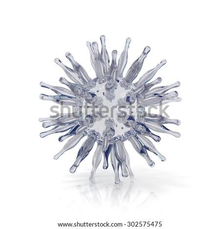 Virus. 3D render illustration isolated on white background - stock photo