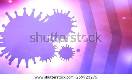 virus disease medical card presentation - stock photo