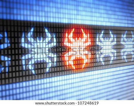 Virus.  Full collection of icons like that is in my portfolio - stock photo