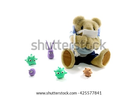 Virus of the disease - stock photo
