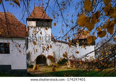 viscri medieval church - stock photo