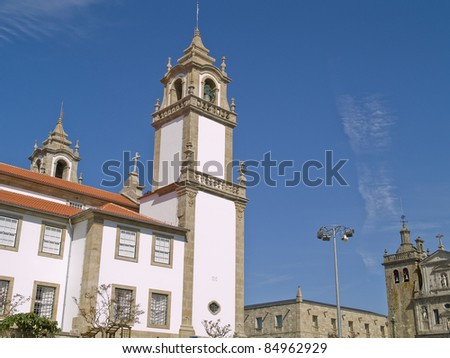 Viseu, historic town of Portugal. - stock photo