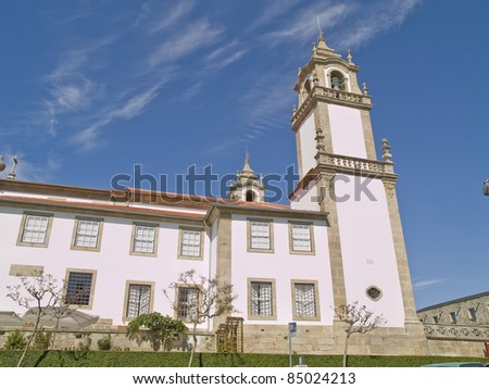 Viseu, historic town of Portugal. Historic district view. - stock photo