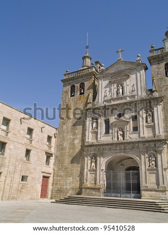Viseu is a cultural town located in northern of Portugal. Historic district view. - stock photo
