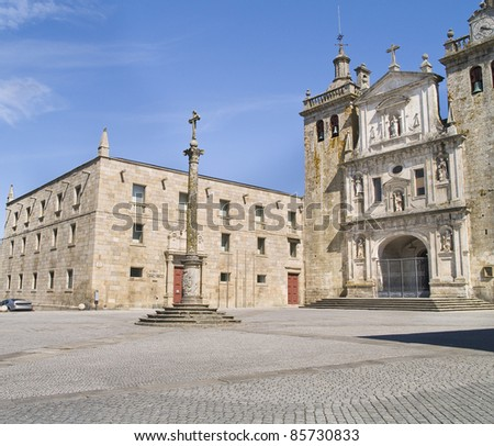 Viseu, town located northern of Portugal, it has a great historic centre. Cathedral view. - stock photo
