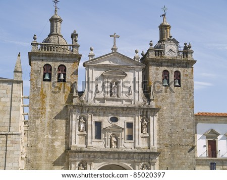 Viseu, town of Portugal. It has a great cultural legacy. Cathedral view. - stock photo