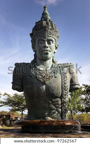 vishnu statue (gwk) in bali - stock photo
