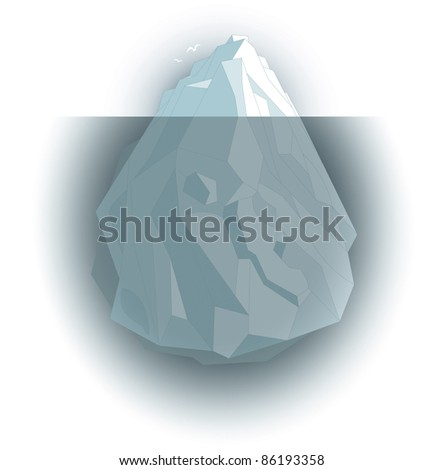 visible and invisible Iceberg - stock photo