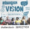 Vision Creative Ideas Inspiration Target Concept - stock photo