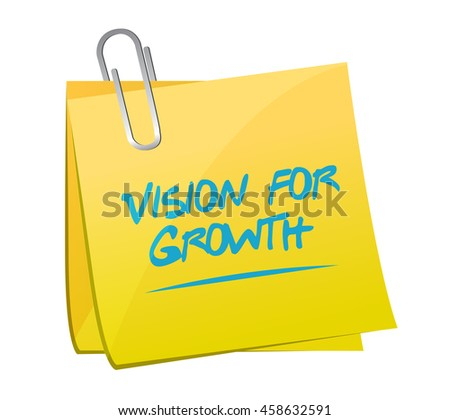 vision for growth memo post sign business concept illustration design graphic - stock photo