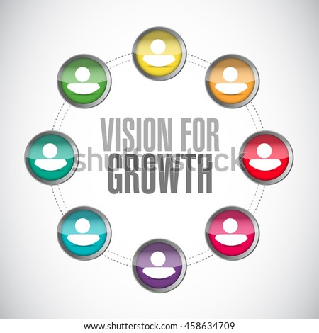 vision for growth network sign business concept illustration design graphic - stock photo