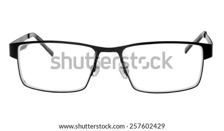 vision glasses over white - stock photo