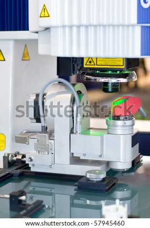 Vision measuring system - stock photo