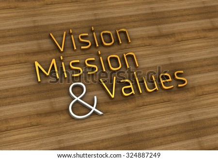 Vision, Mission, Values | Typo - stock photo