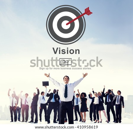 Vision Strategy Planning Direction Aspirations Concept - stock photo