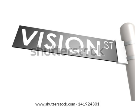 Vision street sign - stock photo