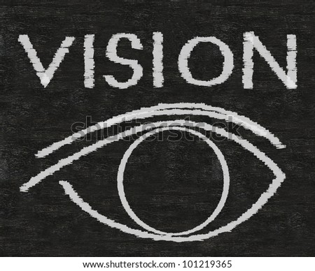 vision written on blackboard background Easy to edit and use, high resolution. - stock photo