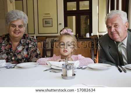 Visiting of restaurant - stock photo