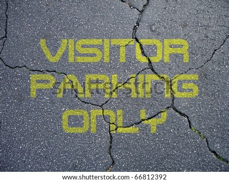 Visitor Parking Only Sign - stock photo