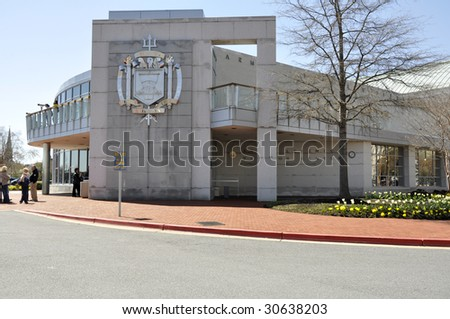 Visitor's Center at the United States Naval Academy in Annapolis, Maryland - stock photo