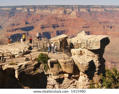 Visitors at Mather Point, Grand Canyon