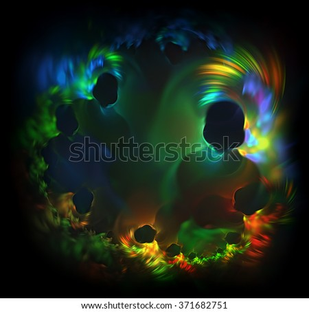 Visitors of the Other World of a person abstract illustration - stock photo