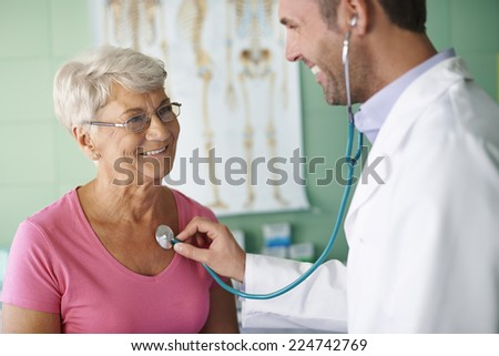 Visits in my doctor are no unpleasant - stock photo