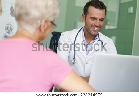 Visits in this doctor always are pleasure - stock photo