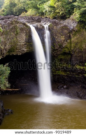 Visits to Rainbow Falls over a several day period within the same week shows the many moods of Rainbow Falls. - stock photo
