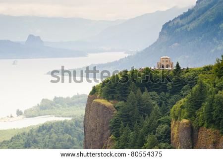 Vista House, Oregon USA - stock photo