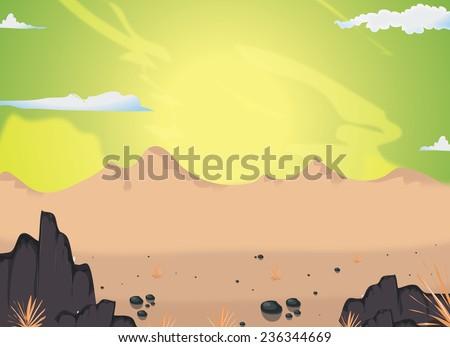 Cartoon Desert Scene Cartoon Desert Scene