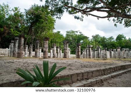 vista View of Ten Thousand Columns - stock photo
