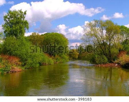 Vistula near springs - stock photo