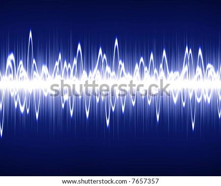 Visual representation of a soundwave - stock photo
