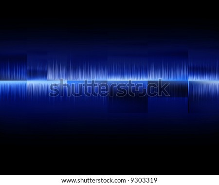 Visual representation of an audio wave