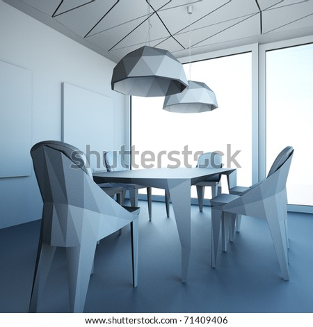 visualization of interior meeting room
