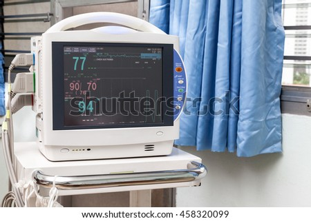 Vital signs monitor in the hospital