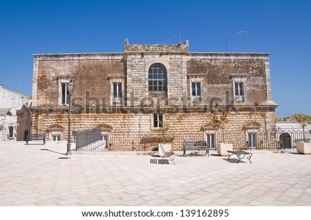 Vitale palace. Ceglie Messapica. Puglia. Italy. - stock photo