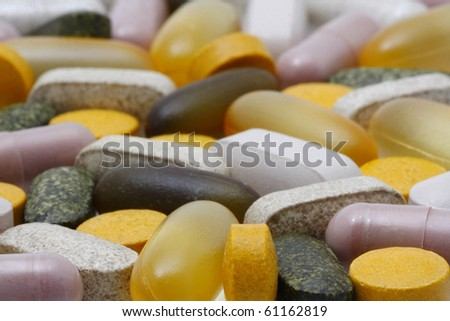 Vitamin and Food Supplements - stock photo