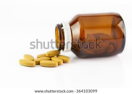 vitamin c On a white background - stock photo
