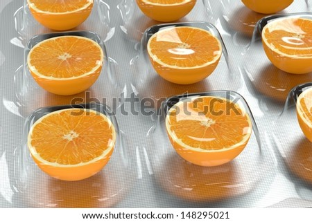 Vitamin C - Orange - stock photo