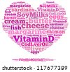 Vitamin D info-text graphics and arrangement concept on white background (word cloud) - stock