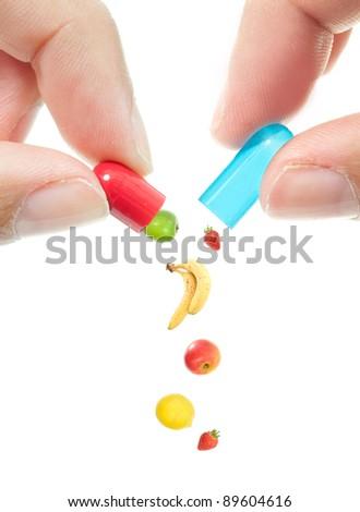 Vitamin pill concept - stock photo