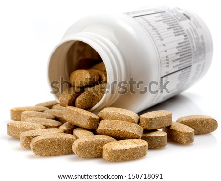 vitamin pills - stock photo