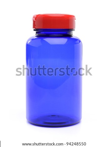 Vitamin pills bottle - stock photo