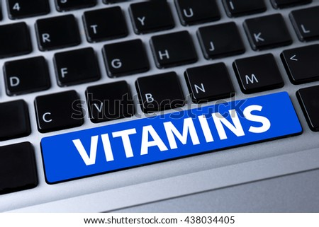 VITAMINS a message on keyboard